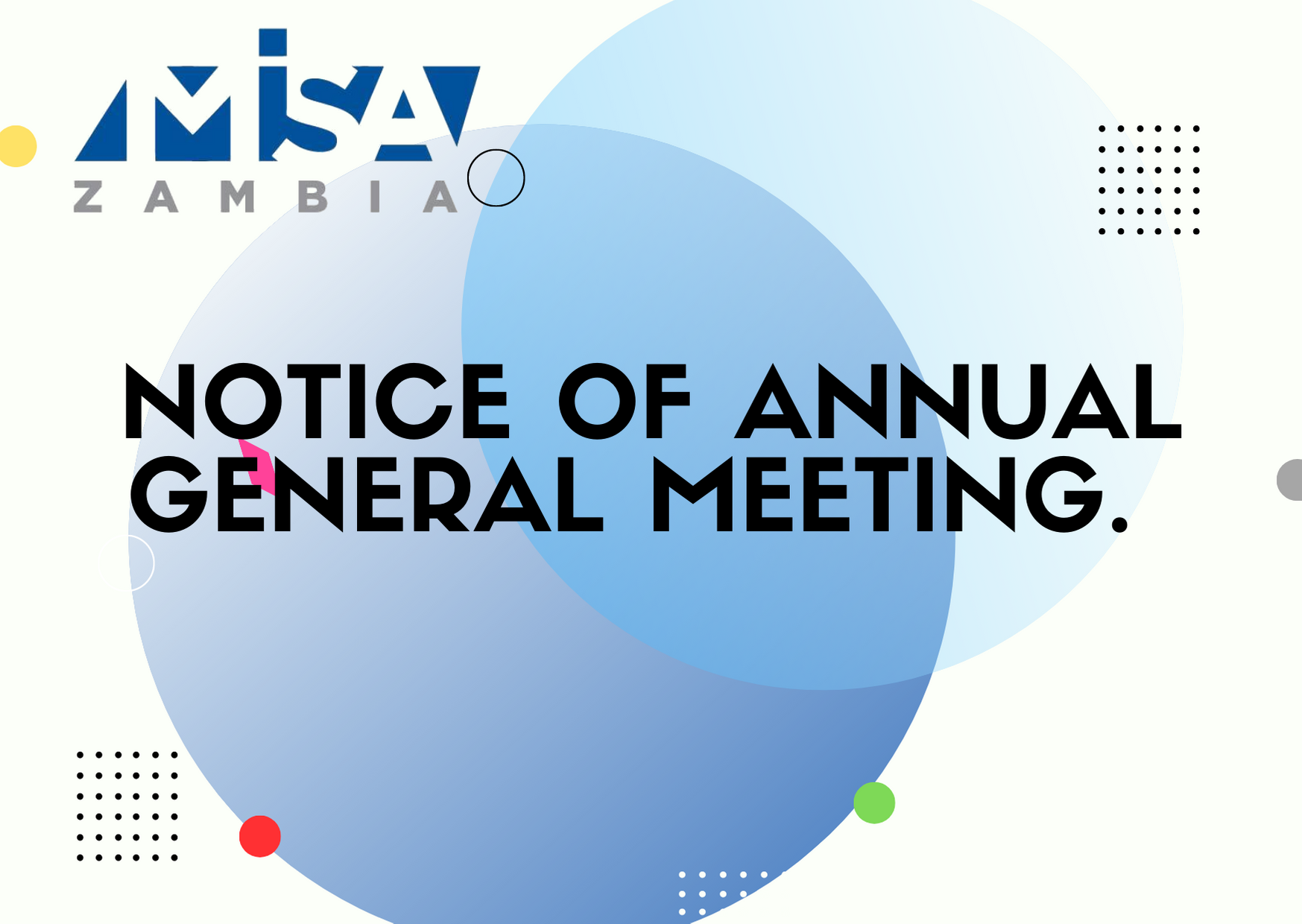 MISA Zambia: Notice of annual general meeting