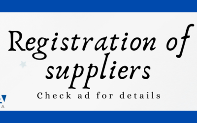 Registration of suppliers